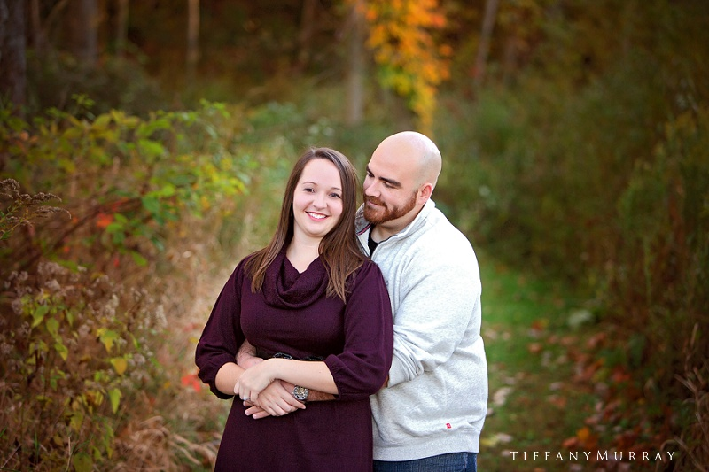ohio rustic fall engagement session pine hill farm