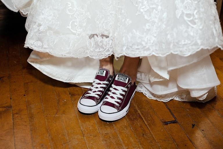 Red Bridal Converse Chuck Taylors