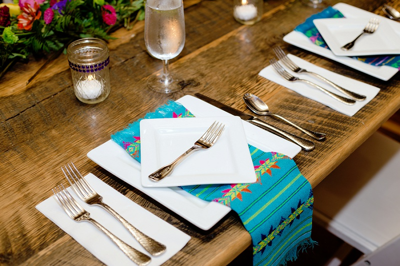 mexican inspired wedding table settings