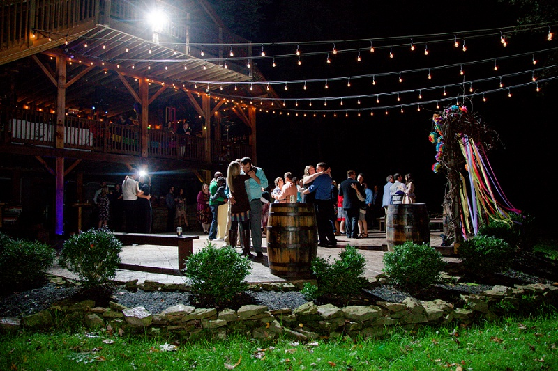 the grand barn at the mohicans night reception