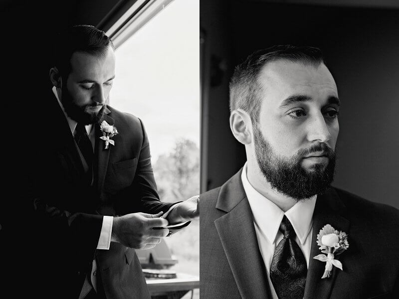 groom by window light redemption chapel stow ohio