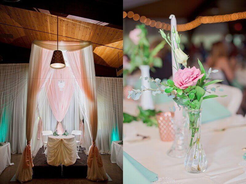 rustic chic wedding decor