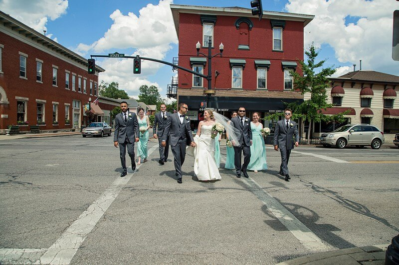 downtown westerville wedding photographer