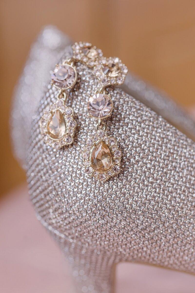 bridal detail shot