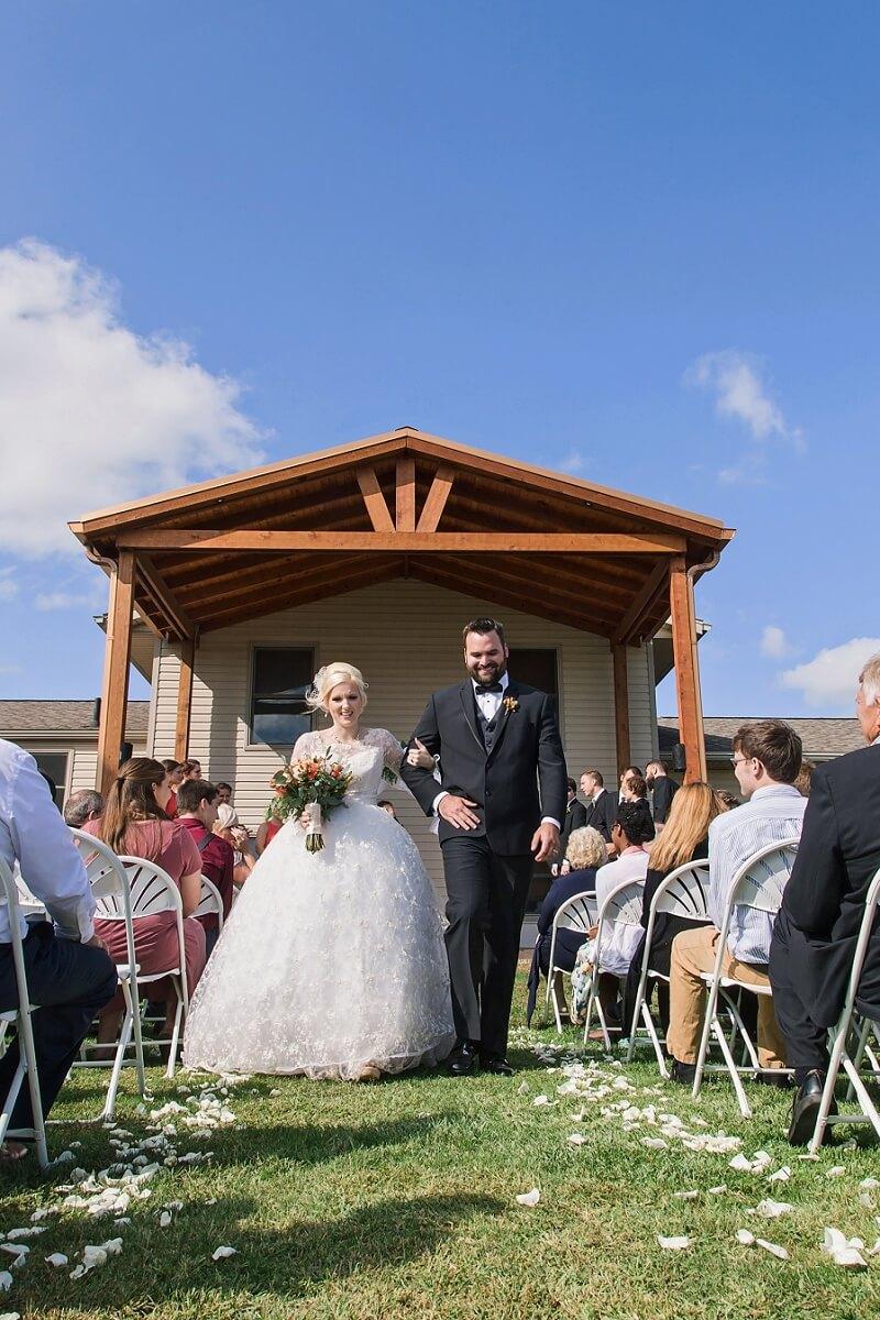 backyard summer wedding