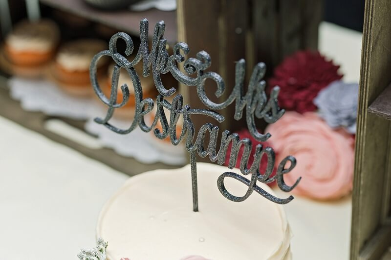 custom cake topper with last name