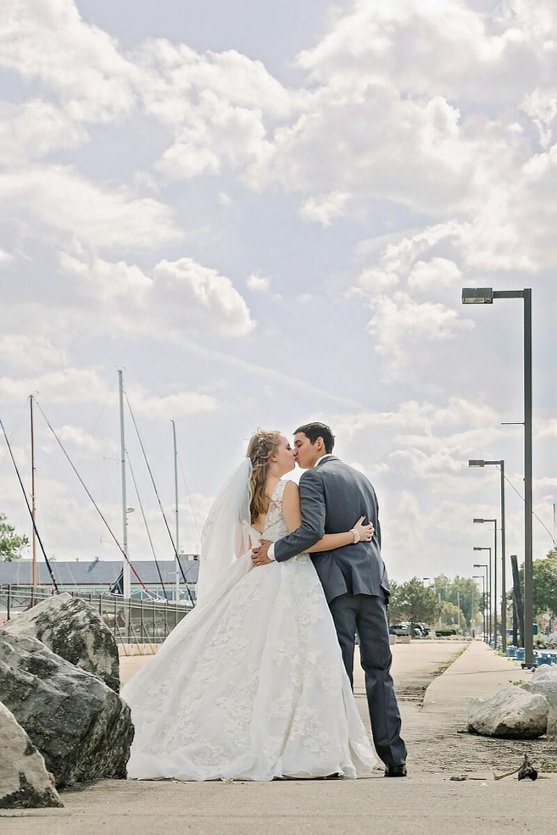 first look bride and groom lakeside sandusky