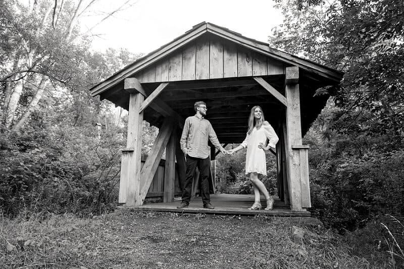 gorman nature center mansfield ohio engagement photographer
