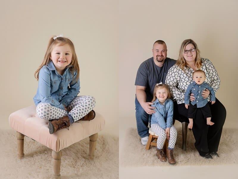 family portraits in studio mansfield ohio photographer tiffany murray