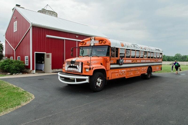 browns bus in front of nolan barn kilkerrin