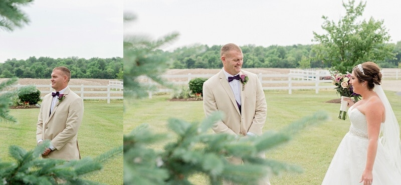 first look summer rustic barn wedding nolan barn kilkerrin