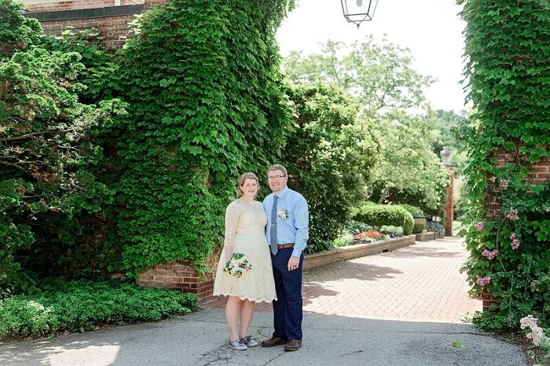 kingwood center garden wedding mansfield ohio