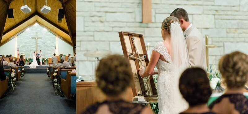 wedding ceremony at first united methodist church of willard ohio