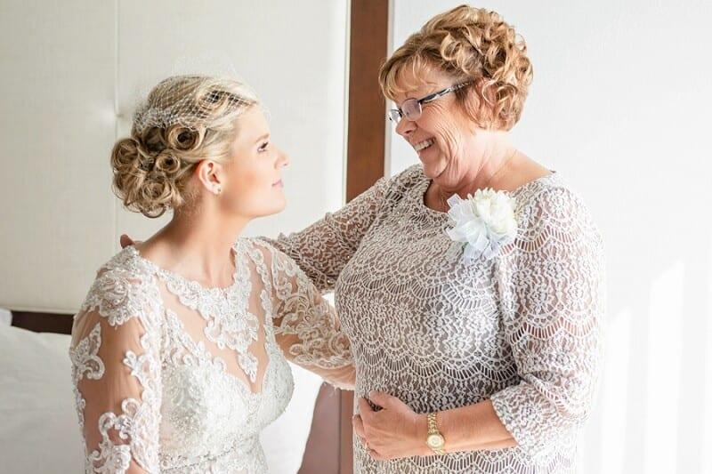 bride getting ready hampton inn tiffin ohio camden falls wedding