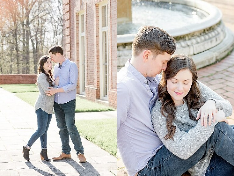 spring engagement session kingwood center mansfield ohio tiffany murray photography