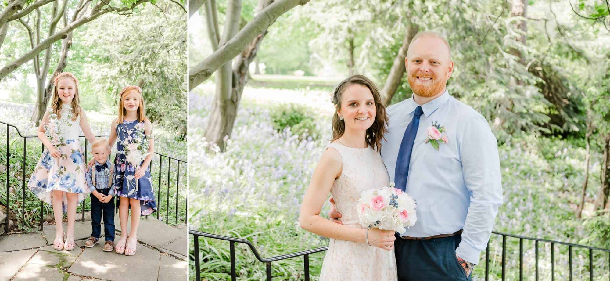 bridal portraits kingwood center gardens wedding