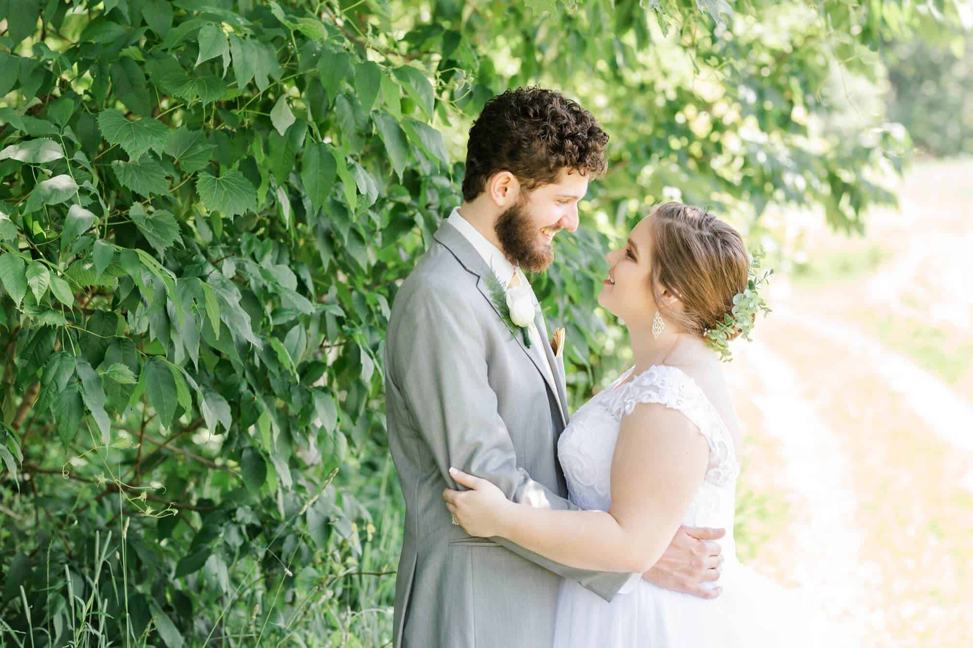 wedding portraits gorman nature center mansfield ohio photographer tiffany murray