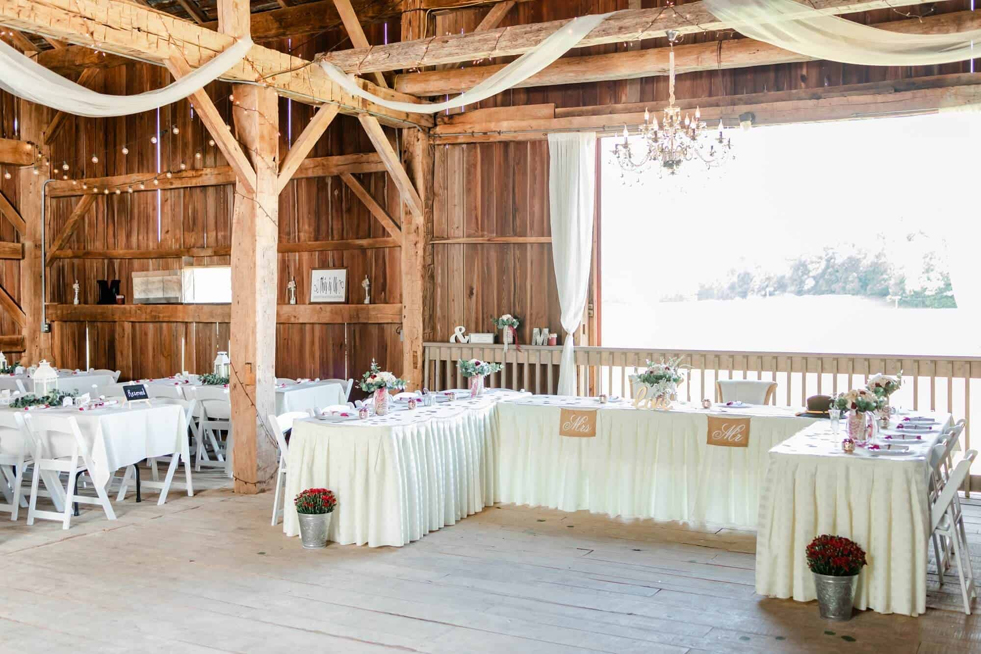 rustic fall wedding at maplewood farms