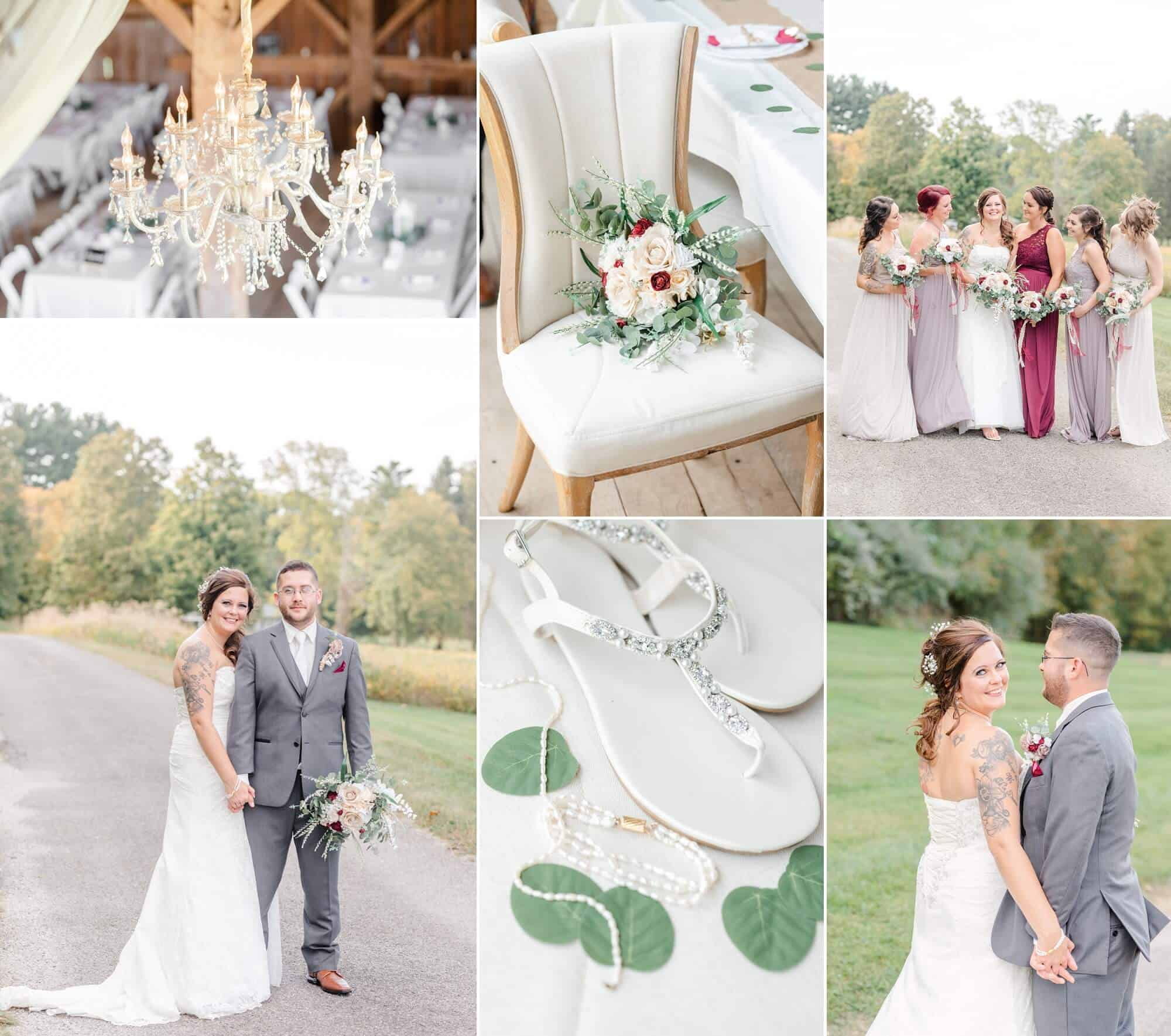 fall wedding maplewood farm lucas ohio