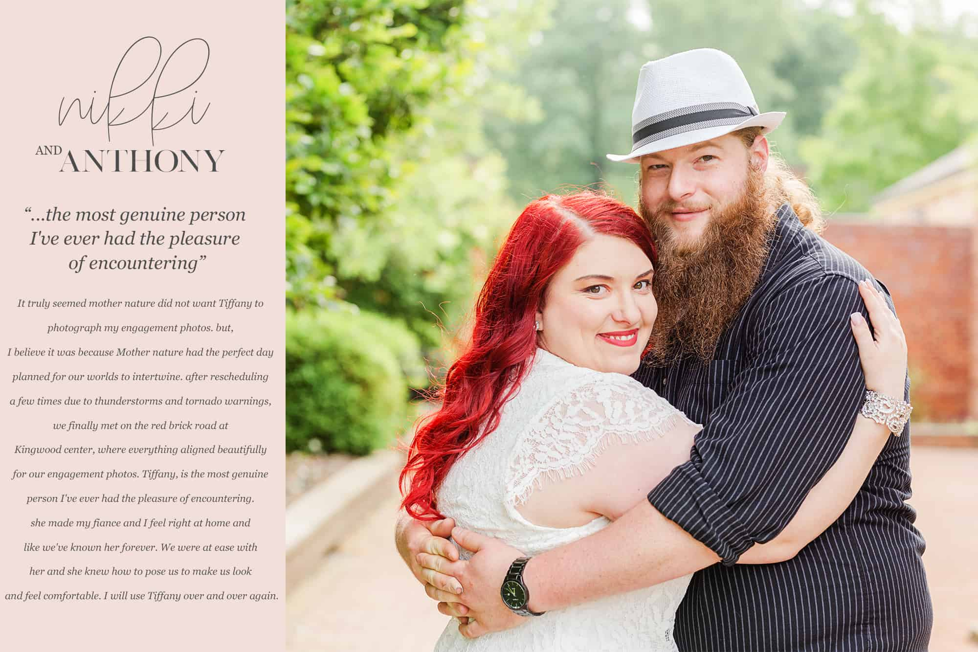 Nikki TJ love note review tiffany murray photography kingwood center engagement photographer mansfield ohio
