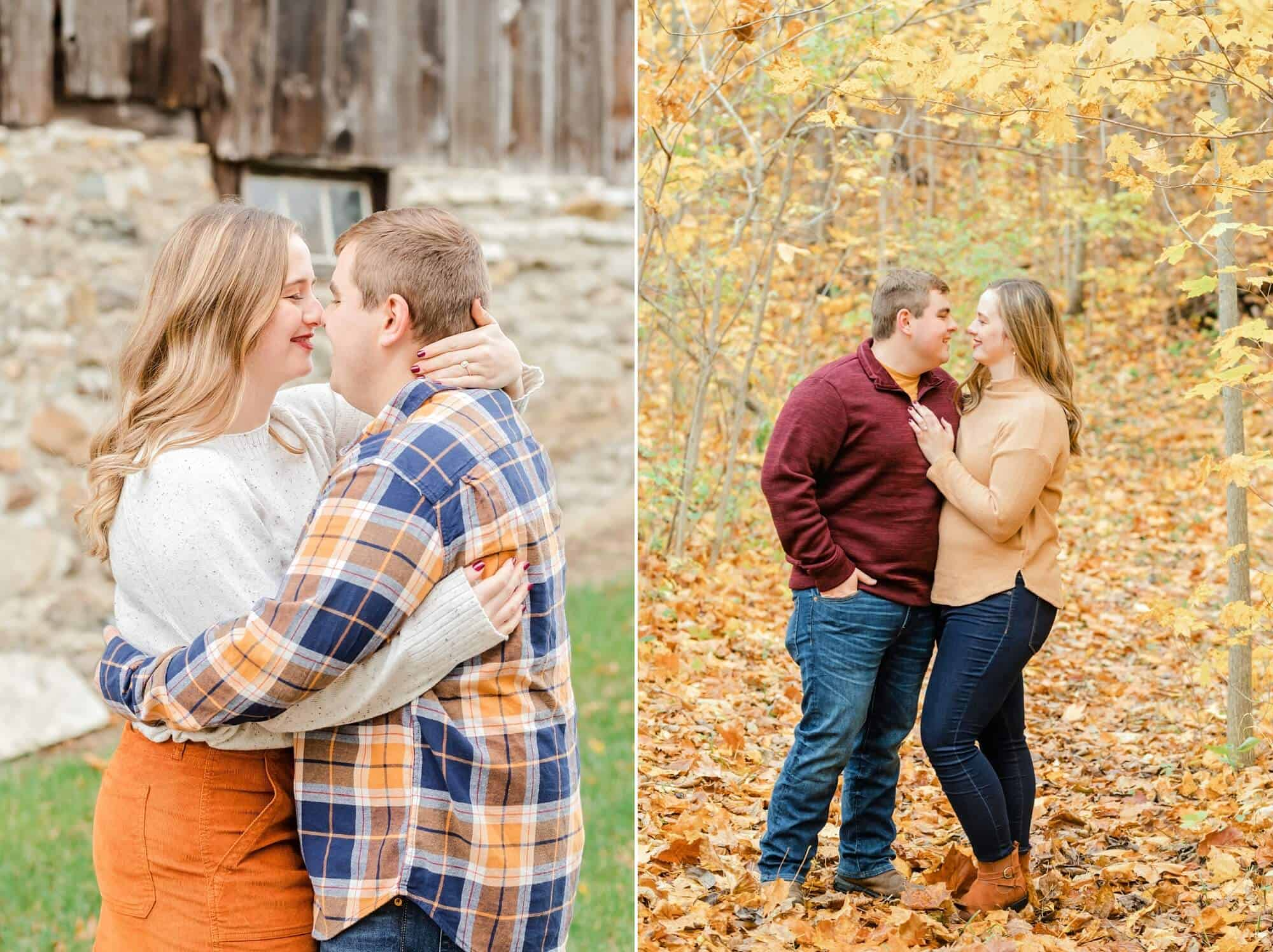 rustic fall engagement photos norwalk ohio