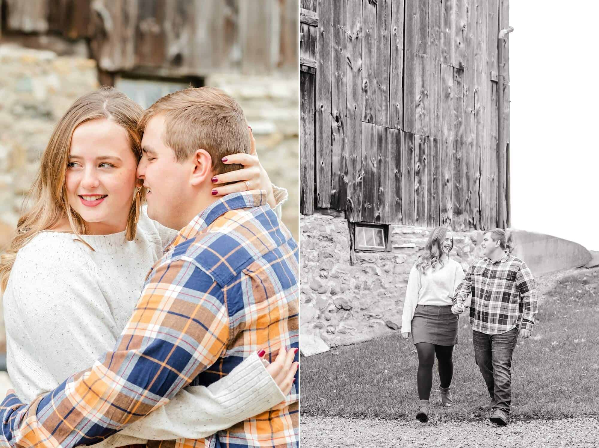 engagement photos on the farm norwalk ohio
