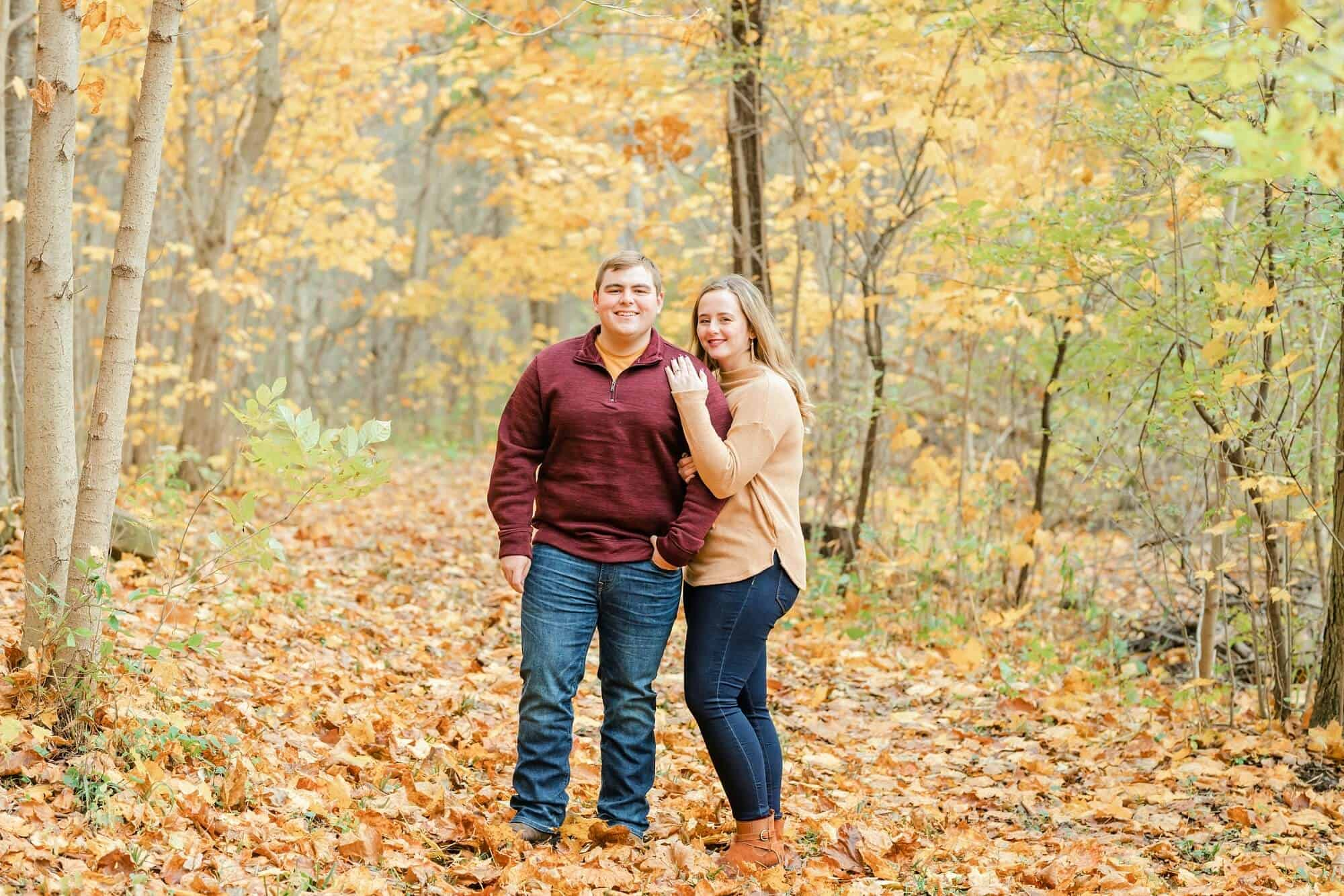 fall engagement photos norwalk ohio