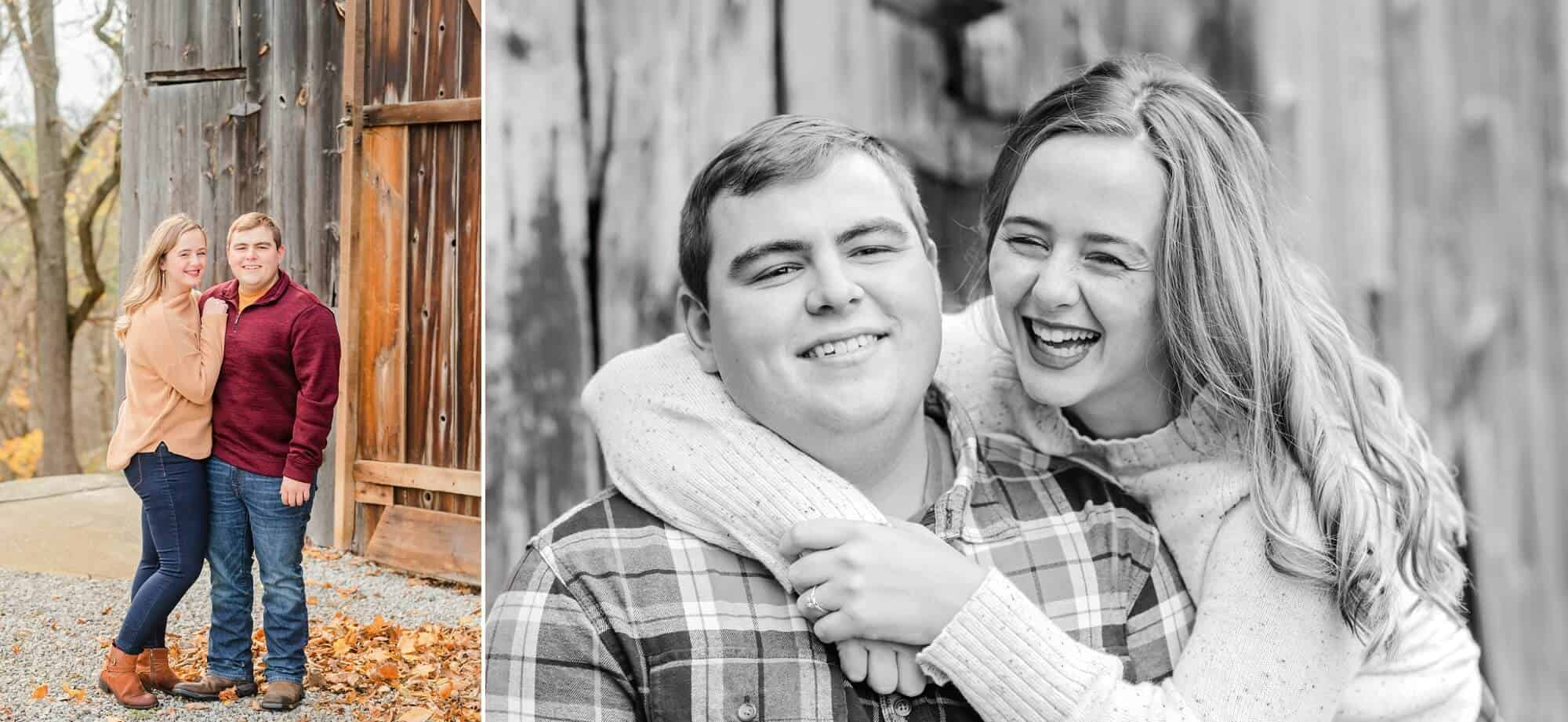 rustic engagement session norwalk ohio