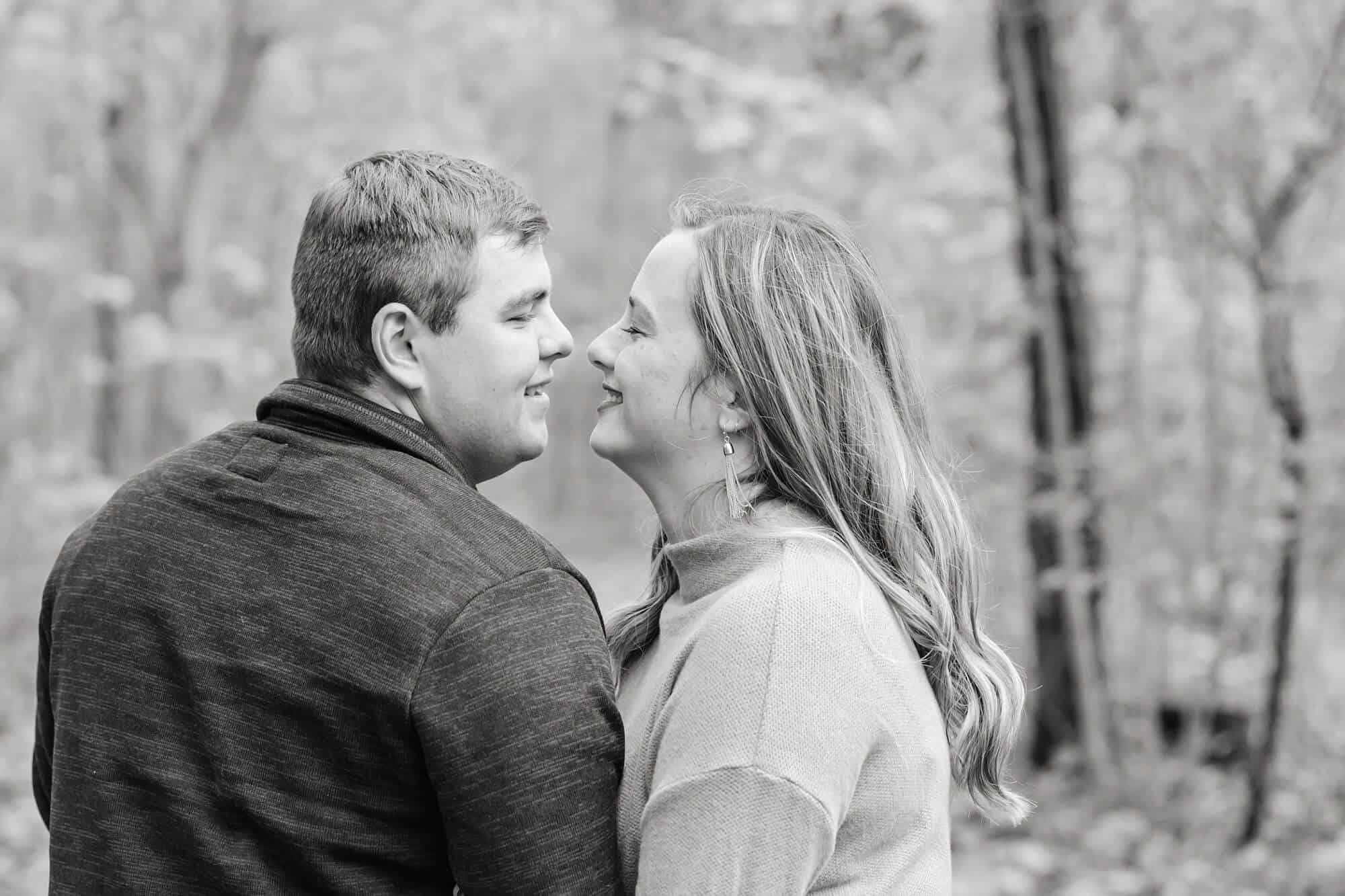 couple in the woods norwalk ohio engagement