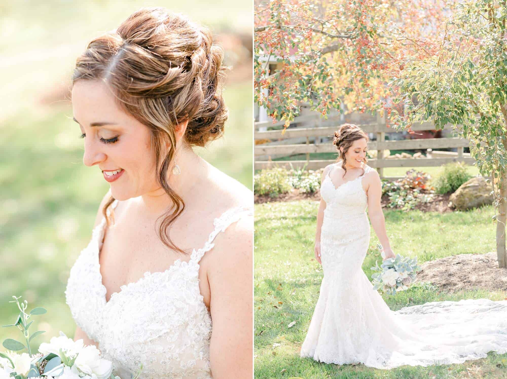 bridal portraits white pine grove