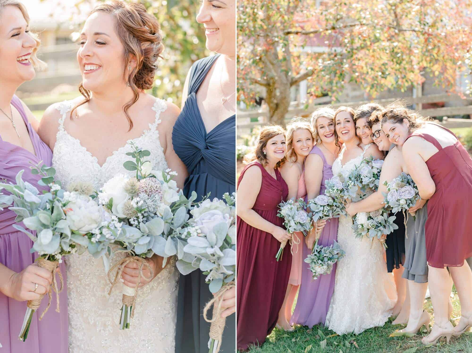 bridesmaids fall wedding perrysville ohio