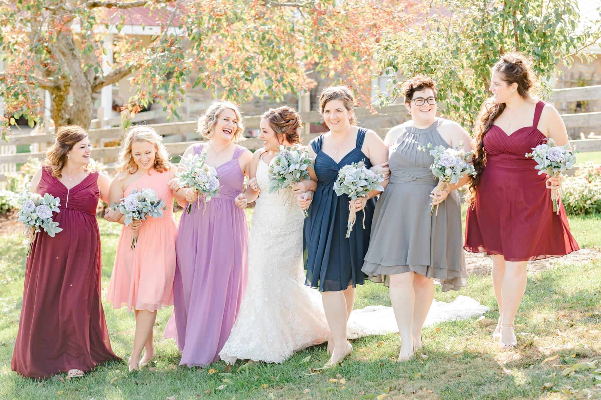 bridal party portraits perrysville ohio