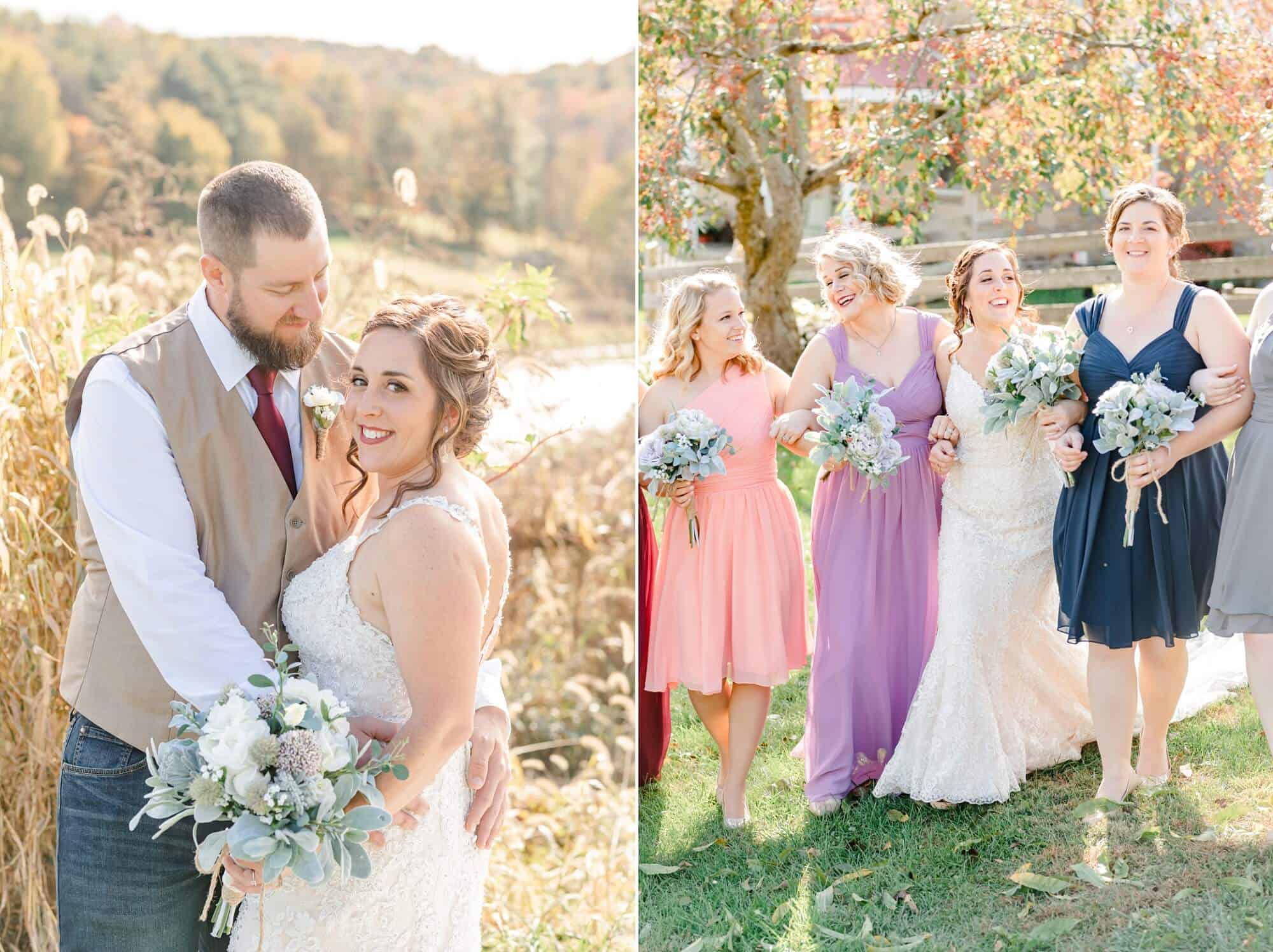 fall wedding in the mohicans