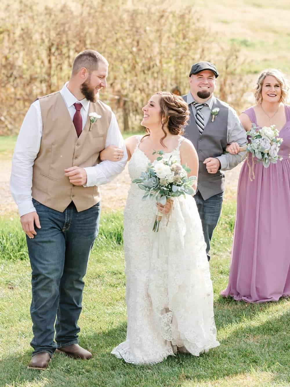 bridal party portraits perrysville ohio wedding