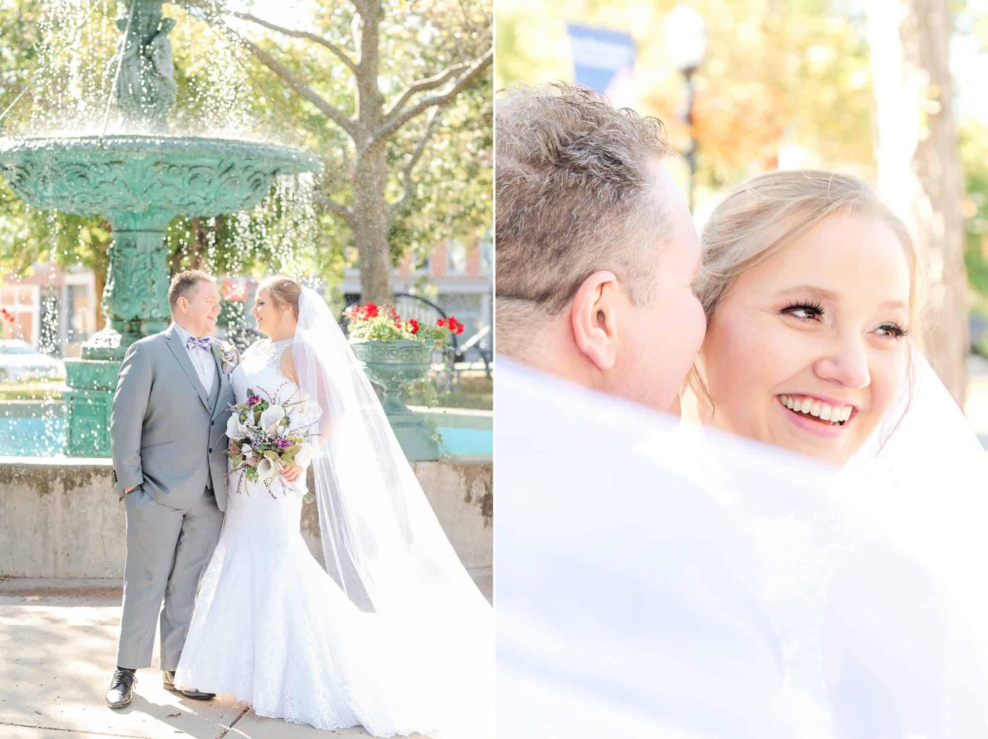 fountain downtown mansfield ohio wedding