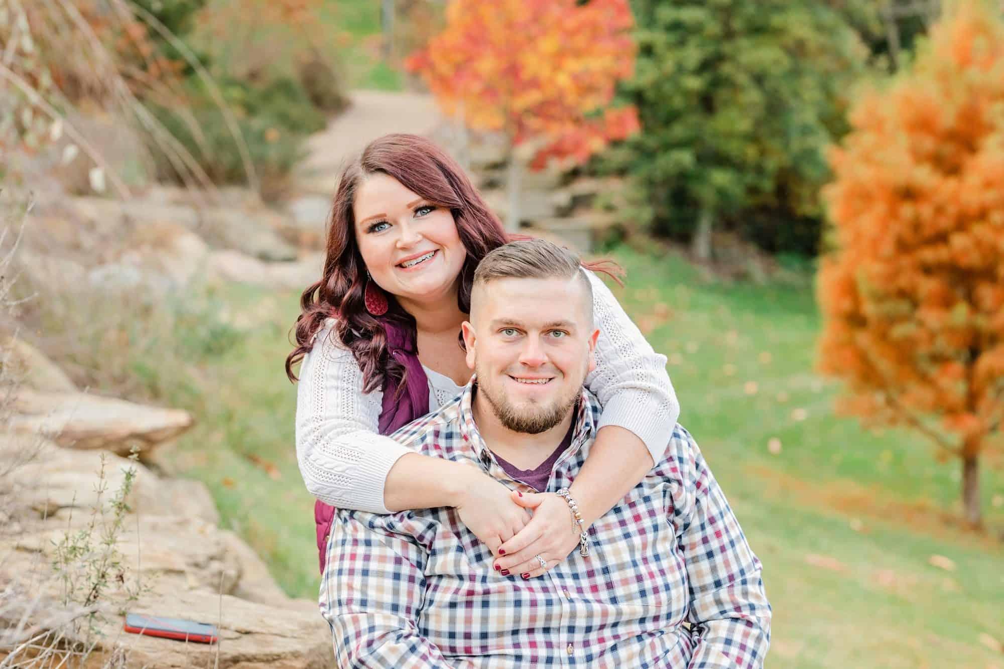 secrest arboretum wooster ohio engagement photos