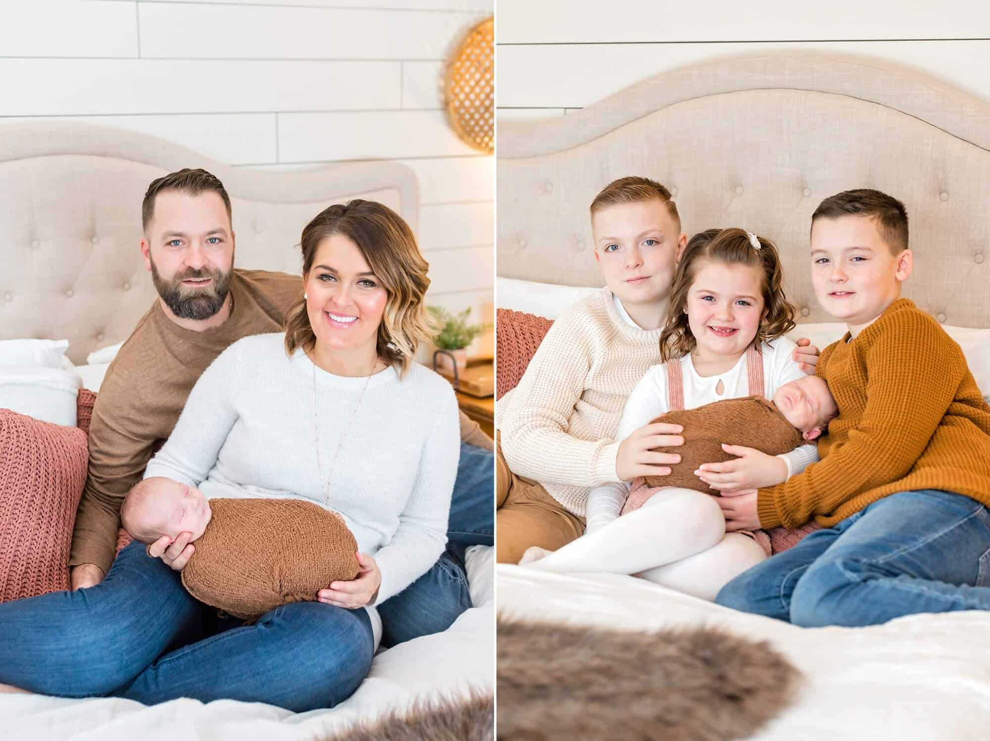 in-home newborn session family portraits tiffany murray