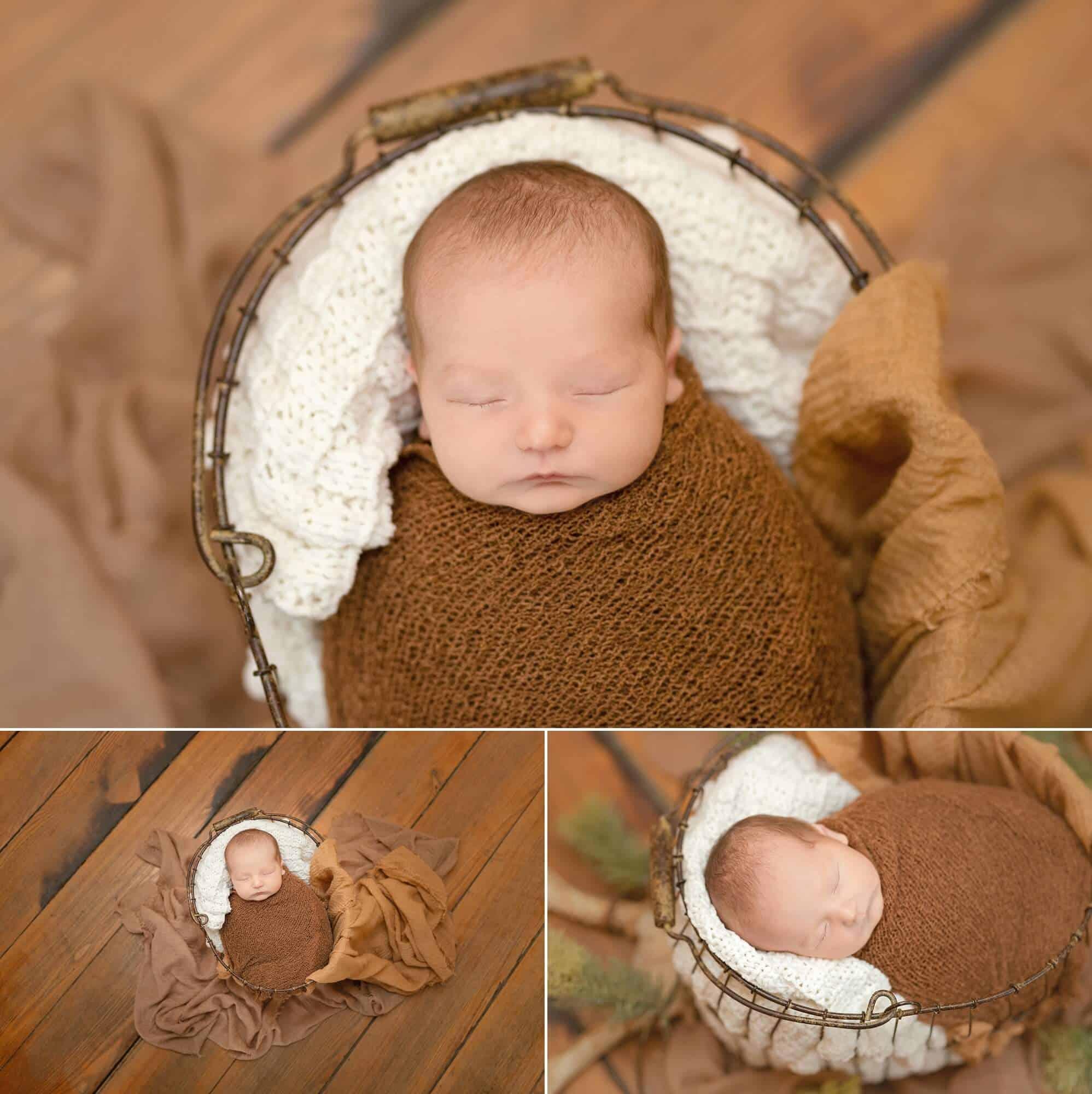 in-home newborn session posed boy tiffany murray