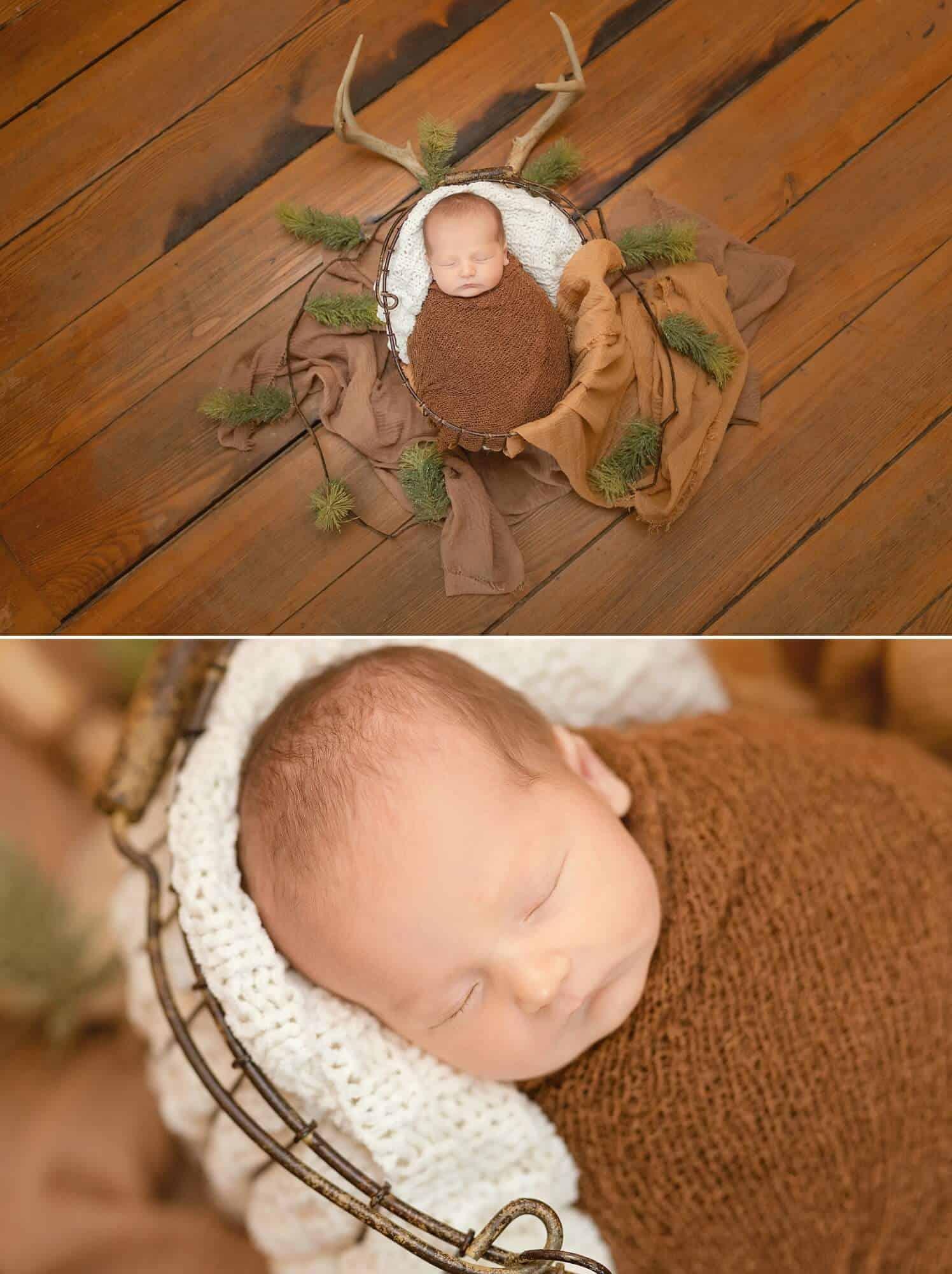 posed boy in-home newborn session tiffany murray