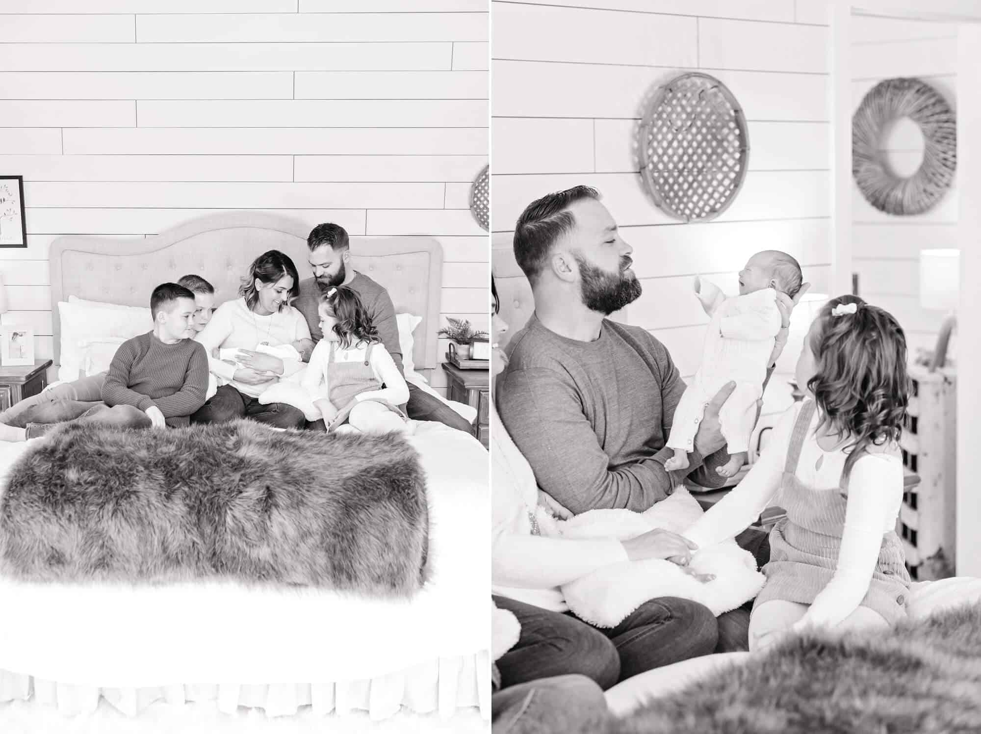 mansfield in-home newborn session tiffany murray