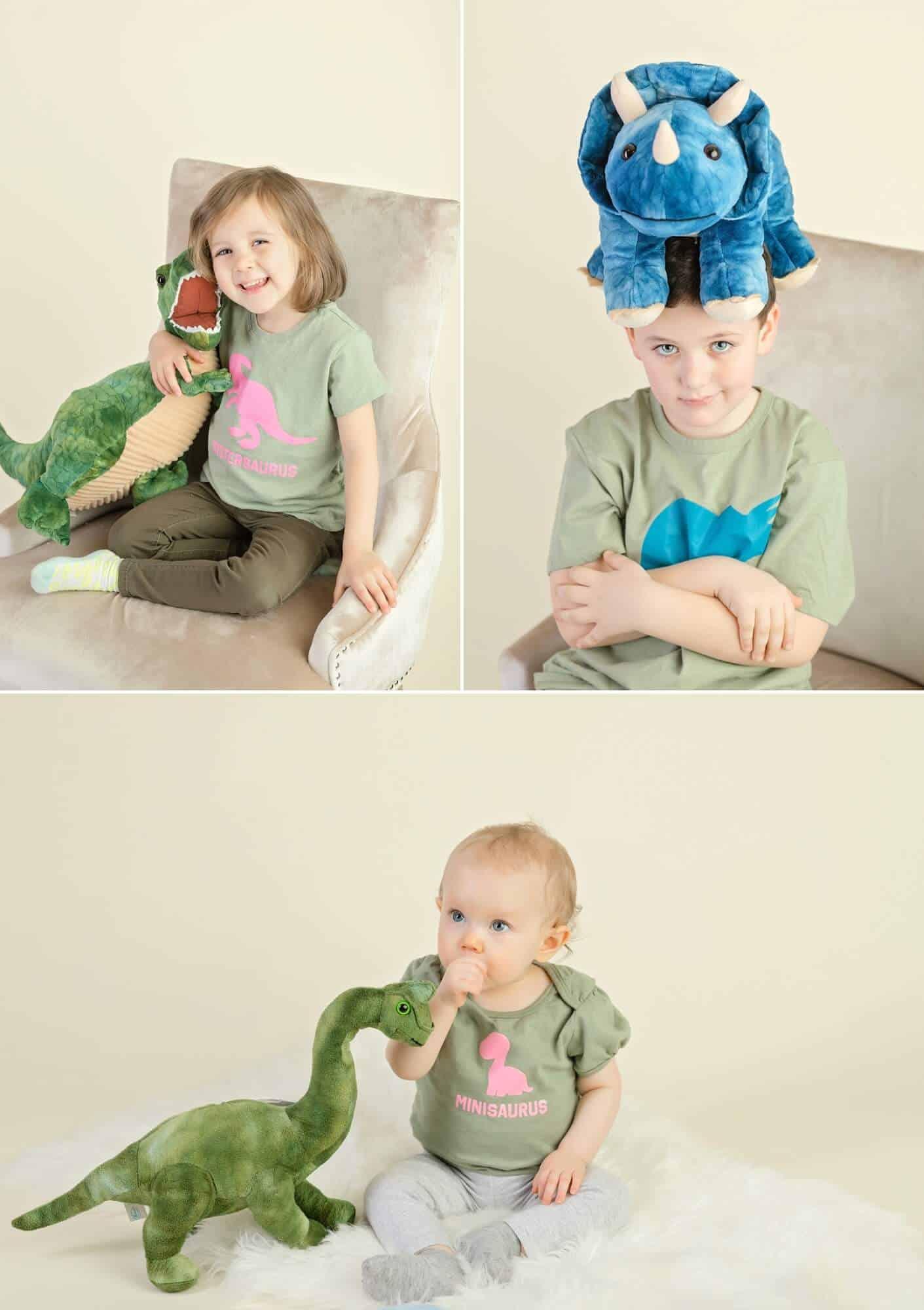 dinosaur sibling photo shoot mansfield ohio