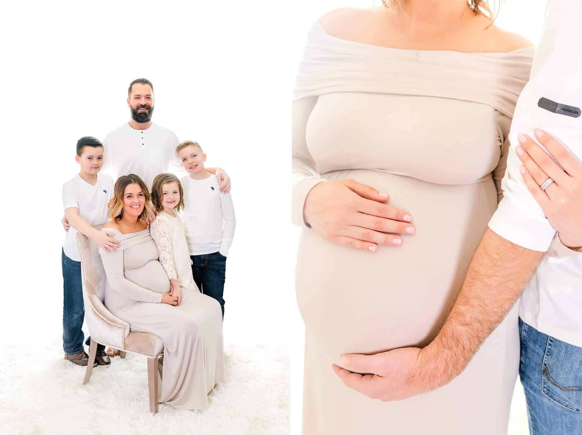 mansfield maternity photographer knoll family in studio