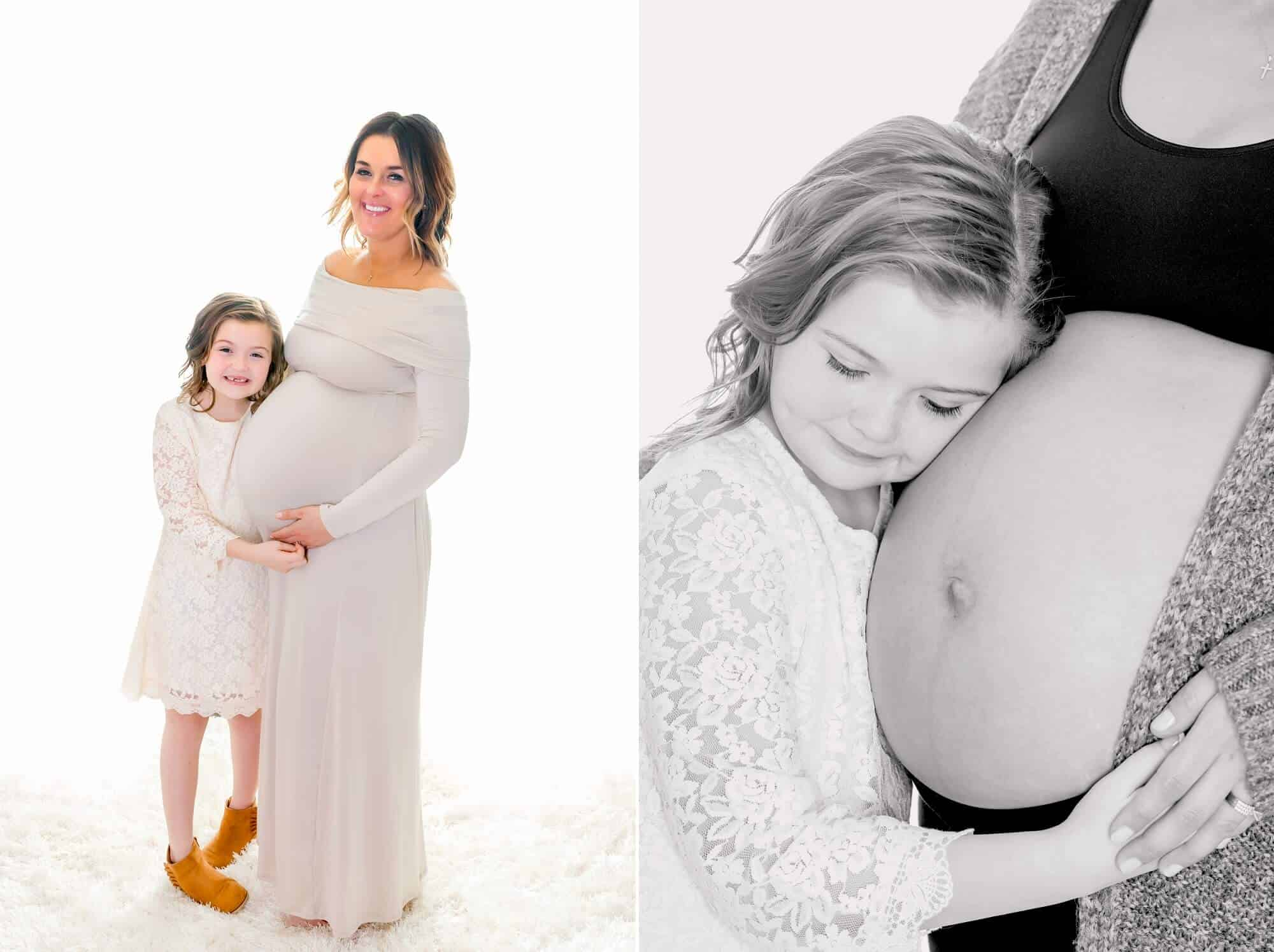 mother daughter maternity photos mansfield ohio