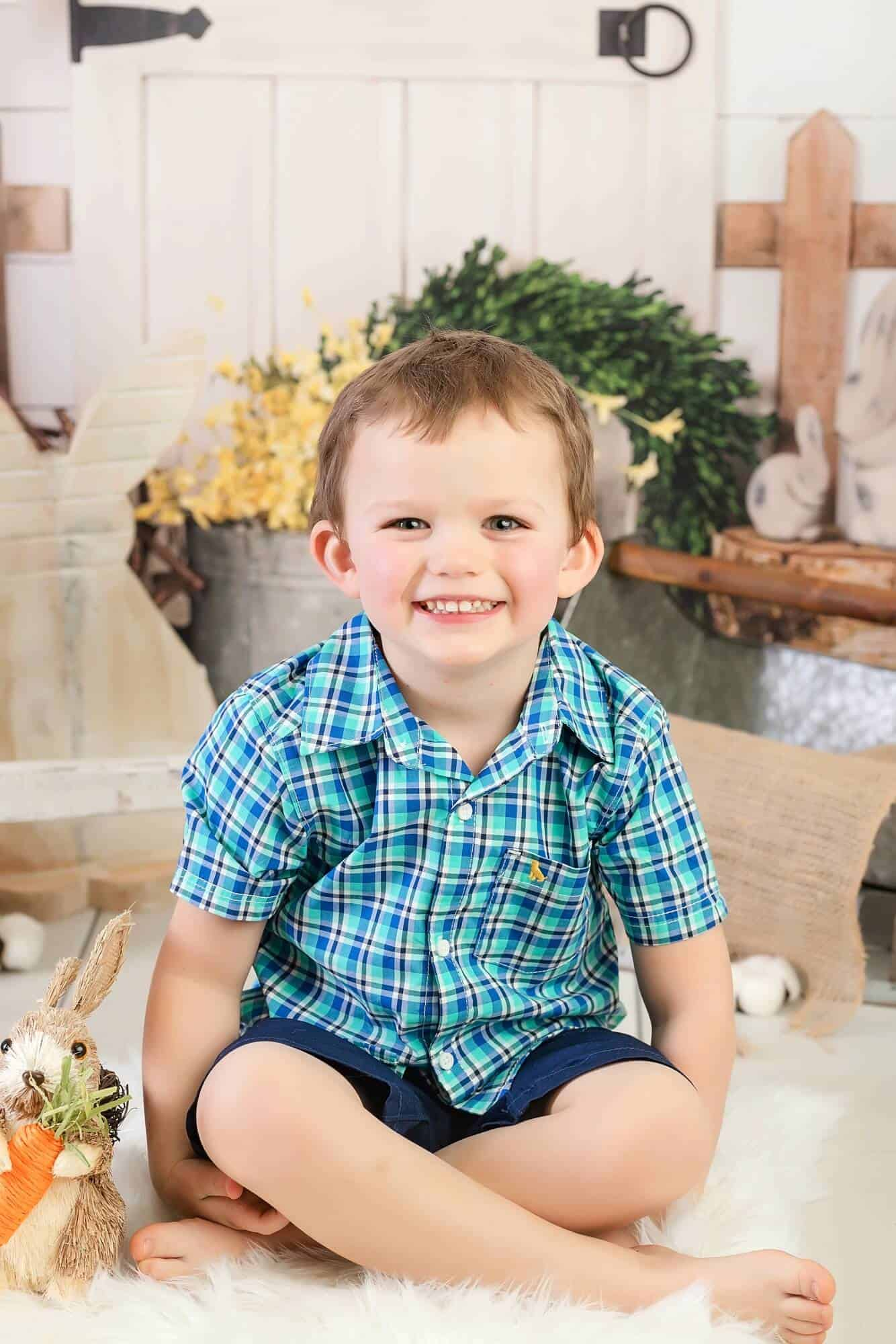 little boy easter portrait mansfield ohio photographer