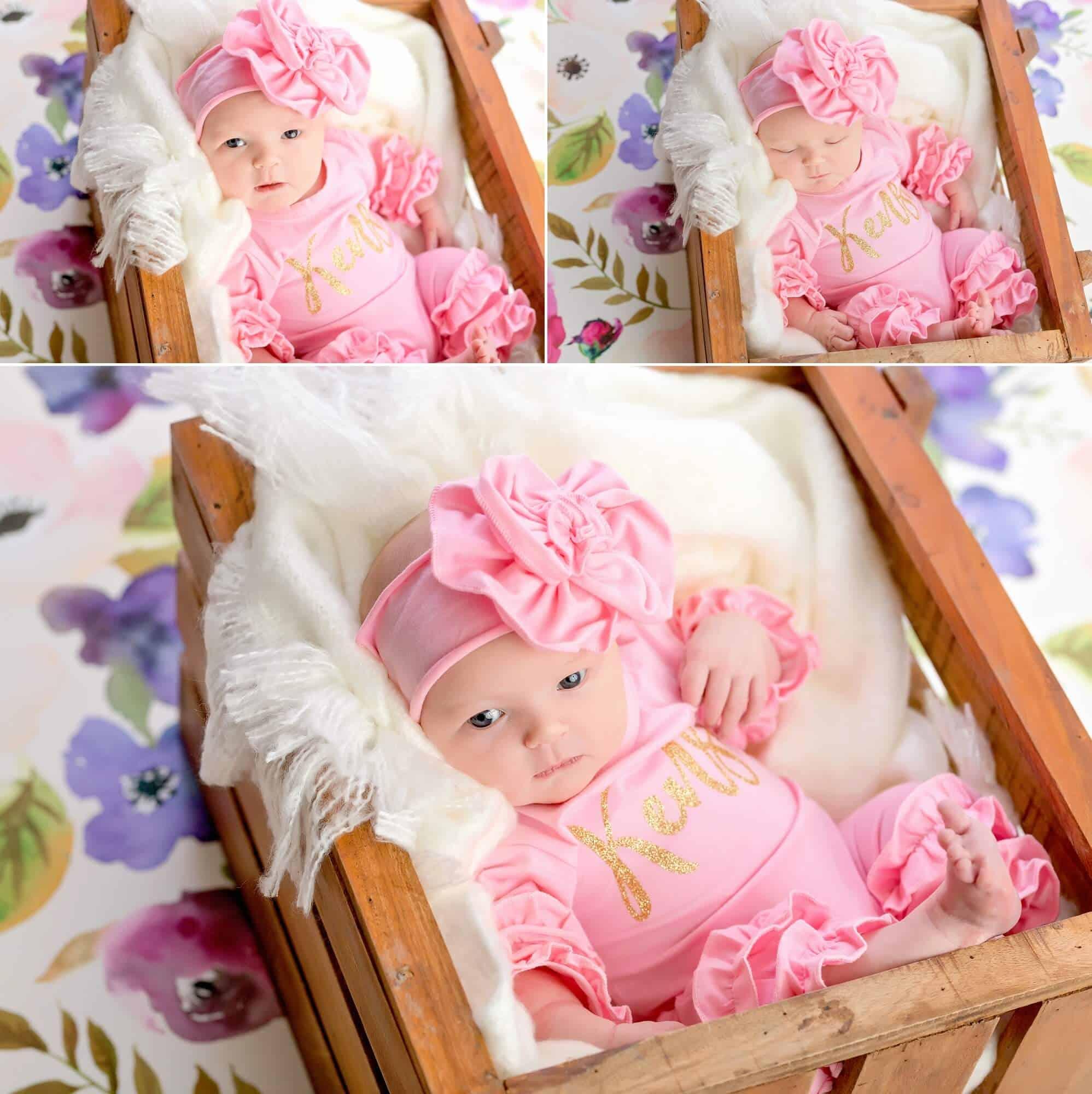 bright-eyed newborn in mansfield ohio photography studio
