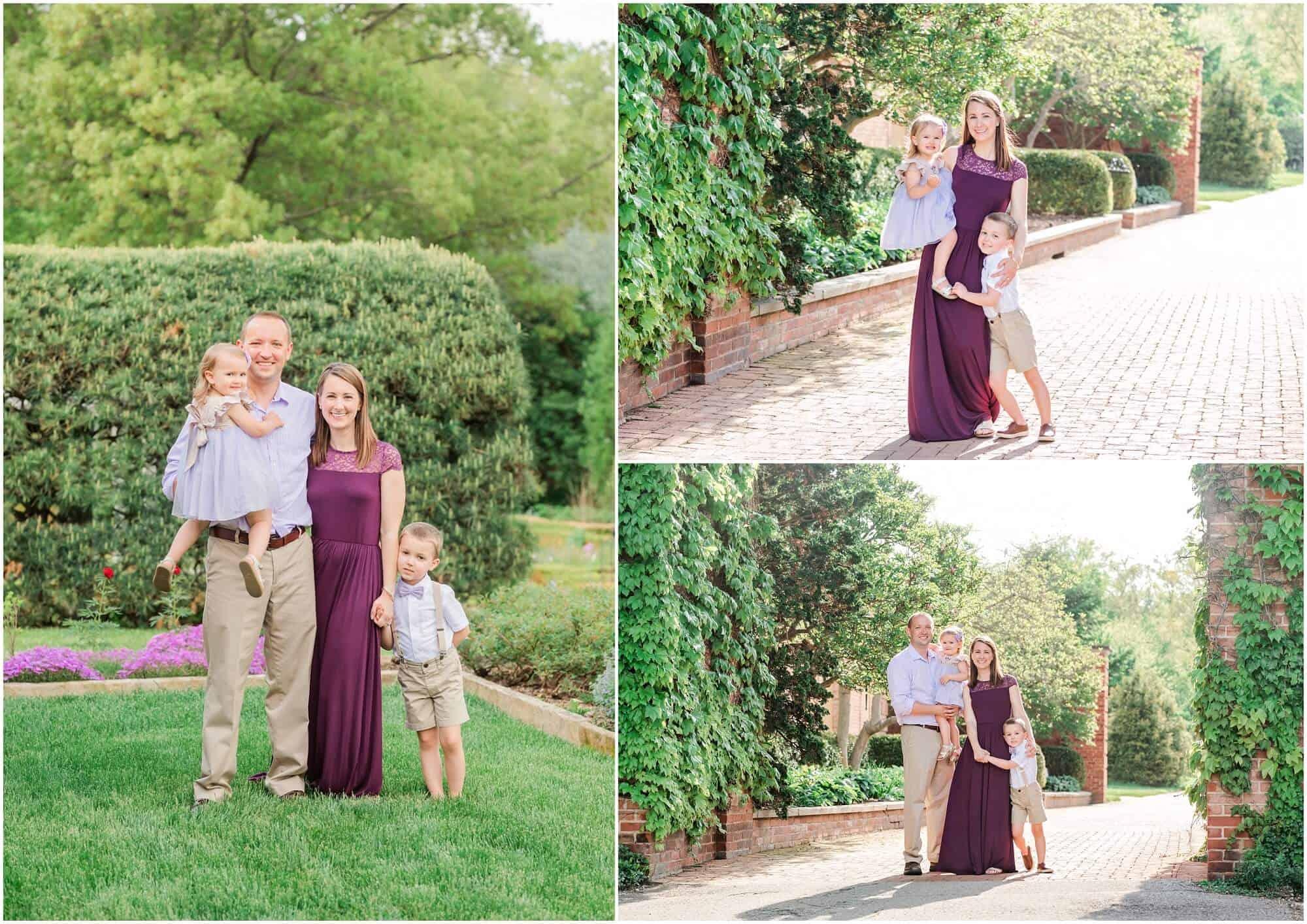 springtime family photos at kingwood center mansfield ohio photographer