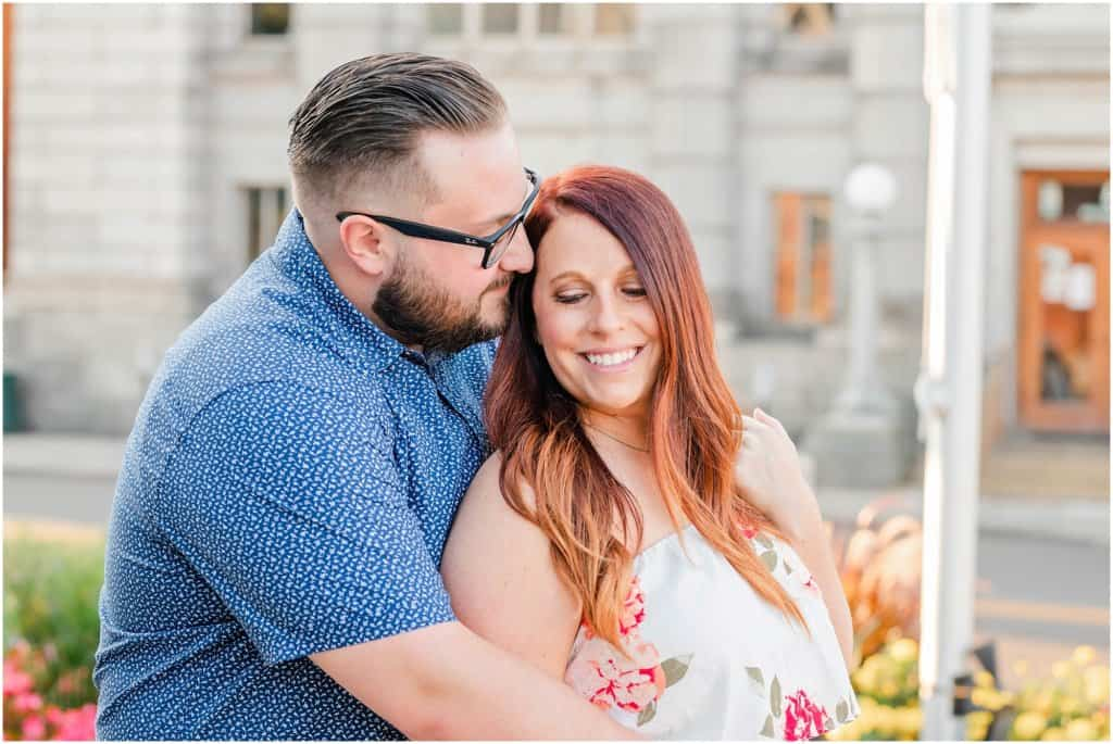 richland carrousel district and central park downtown mansfield ohio engagement session by tiffany murray