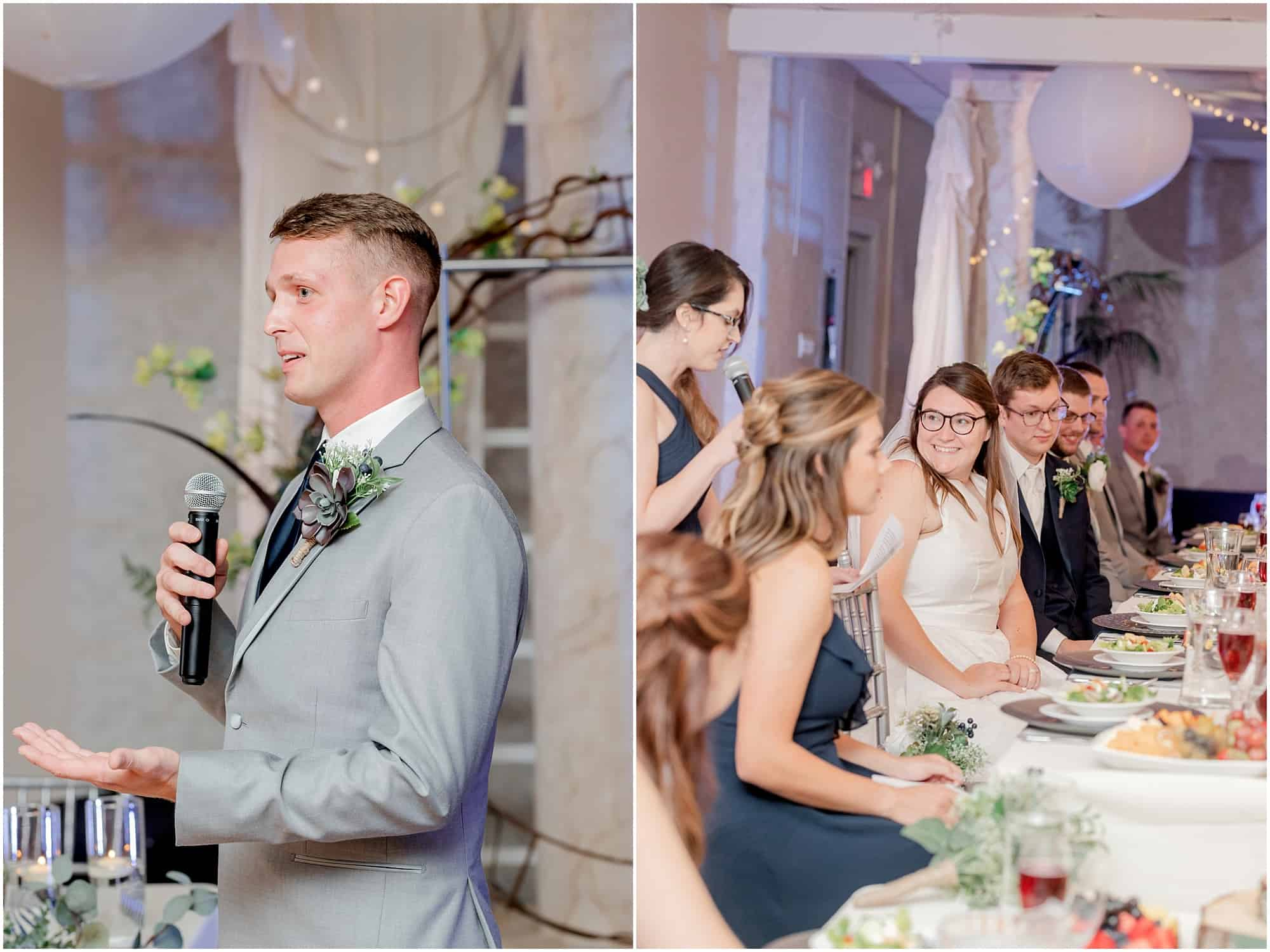 sandusky wedding reception speeches by tiffany murray