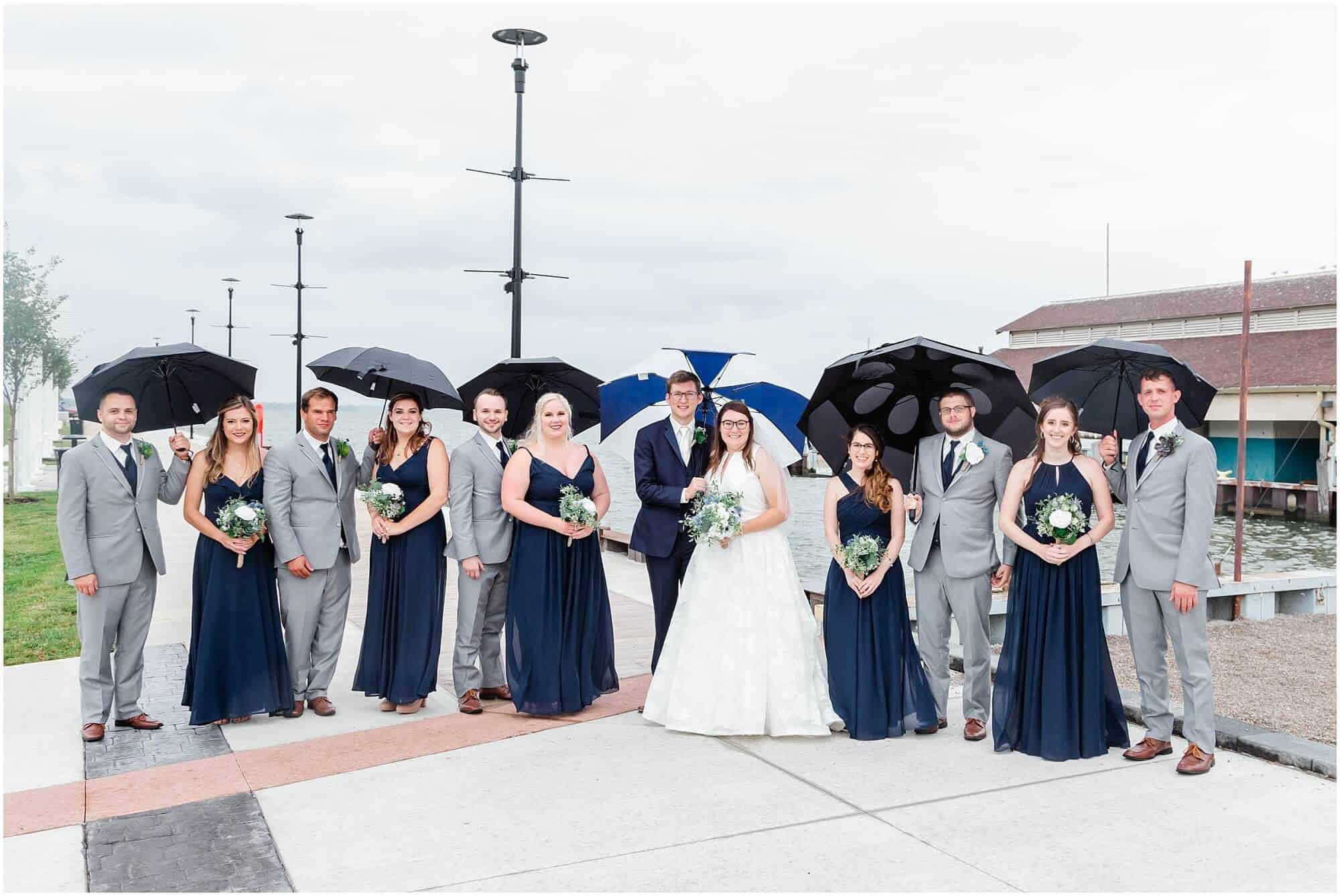 rainy wedding lakeside on lake erie by tiffany murray
