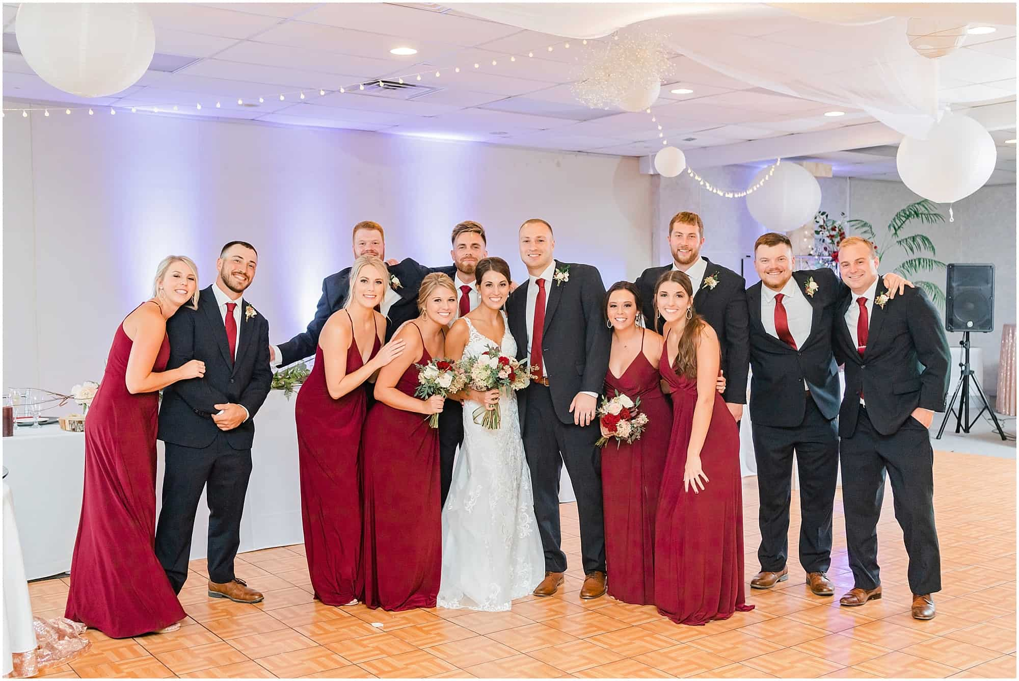 the colonnade wedding reception bridal party photo by tiffany murray